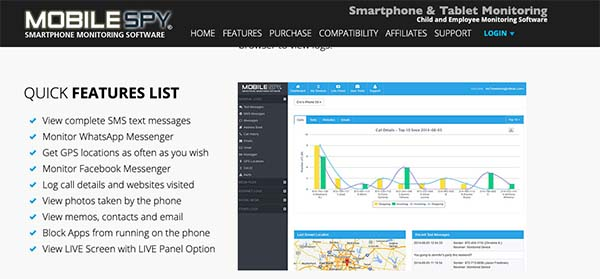 Mobile Spy monitoring software