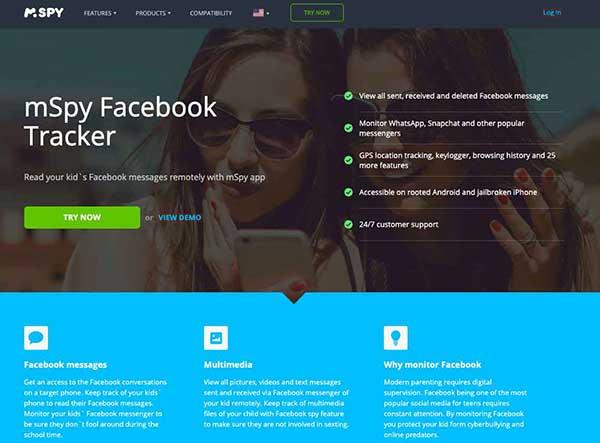 mSpy Facebook Tracker