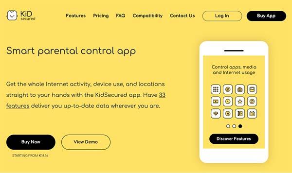 kidsecured parental control app