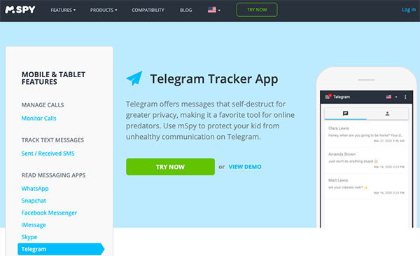 mspy telegram tracker app